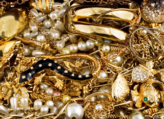Gold, diamonds and pearls